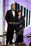 Jeremy Irons, Dr Aida Takla-O-Reilly At Golden Globe 2012 On Stage