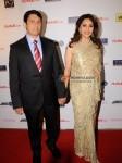 Dr. Shriram Nene & Madhuri Dixit At Filmfare Nominations Bash