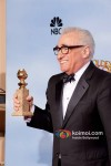Martin Scorsese At Golden Globe 2012 Winners Portrait