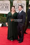 Melissa McCarthy, Ben Falcone At Golden Globe Red Carpet 2012