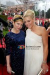 Michelle Williams, Busy Philipps At Golden Globe Red Carpet 2012