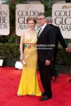 Mireille Enos, Alan Ruck At Golden Globe Red Carpet 2012