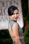 Naya Rivera At Golden Globe Red Carpet 2012