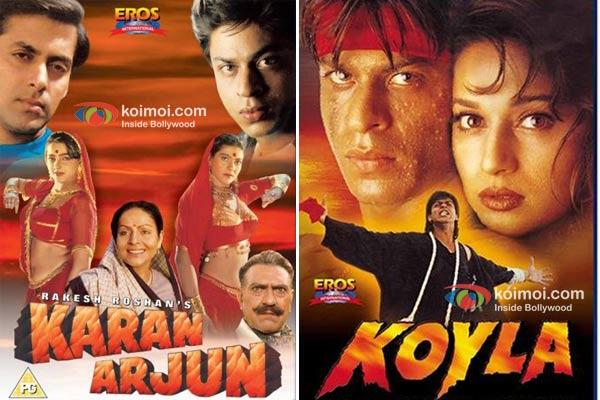 Poster of Karan Arjun and Koyla
