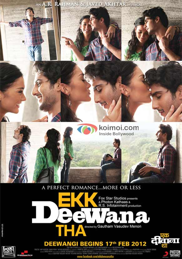 Prateik and Amy Jackson in the special Moments poster of Ekk Deewana Tha