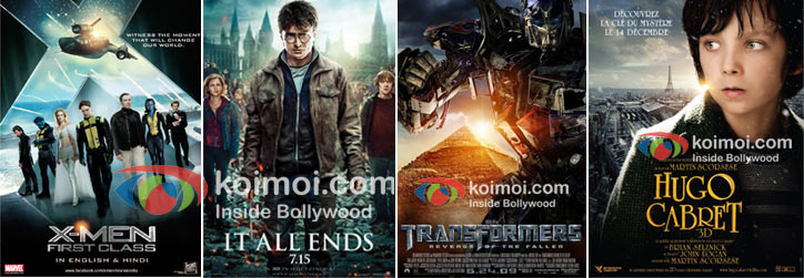 Prime Focus contributed to X-Men First Class, Harry Potter And The Deathly Hallows Part 2, Transformers Dark Of The Moon and Hugo