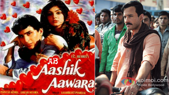 Saif Ali Khan in Aashik Aawara poster & Aarakshan stills