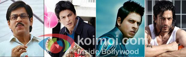 Shah Rukh Khan stills from Rab Ne Bana Di Jodi, My Name Is Khan, Ra.One and Don 2