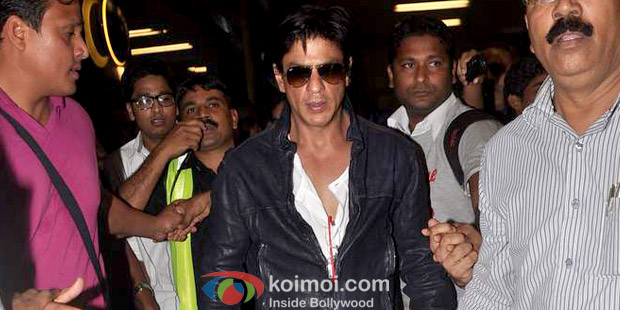 Shah Rukh Khan returns from Dubai