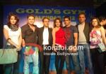 Sohail Khan, Shazahn Padamsee, Prateik At Gold Gym Calendar Launch