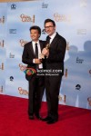 Thomas Langmann and Michael Hazanavicius At Golden Globe 2012 Winners Portrait
