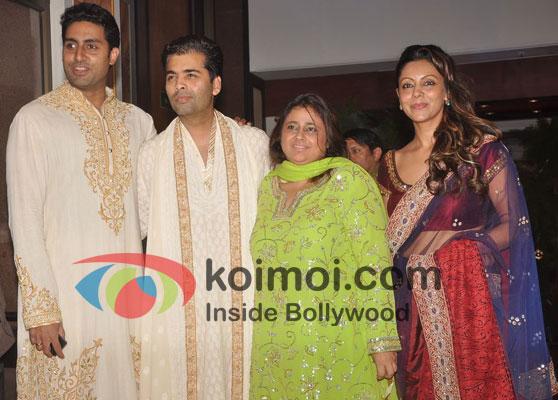 Abhishek Bachchan, Karan Johar & Gauri Khan