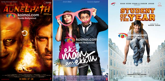 Posters Of Agneepath,Ek Main Aur Ekk Tu And Student Of The Year Poster