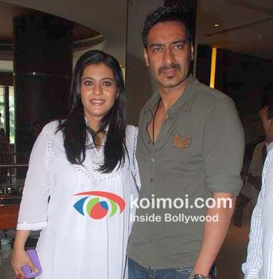Kajol with Ajay Devgan
