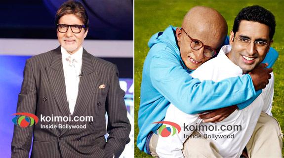 Amitabh Bachchan And Abhishek Bachchan In Paa