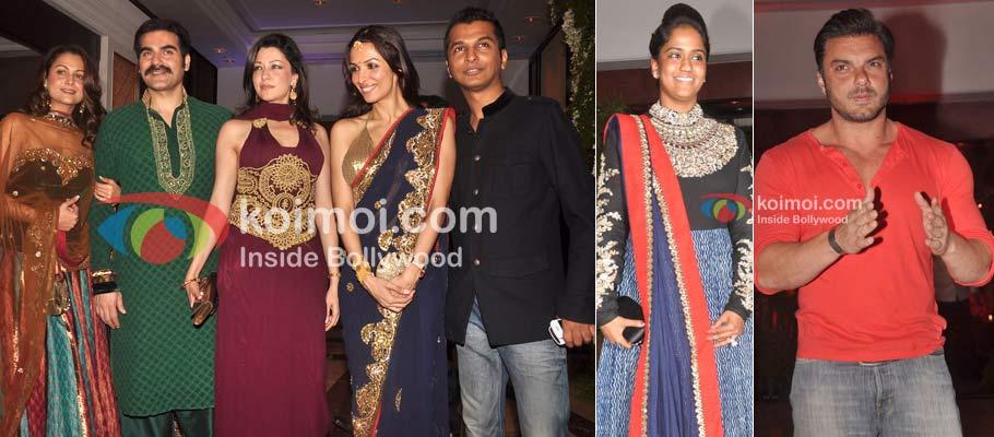 Amrita Arora, Arbaaz Khan, Malaika Arora Khan Manish Malhotra, Arpita Khan & Sohail Khan