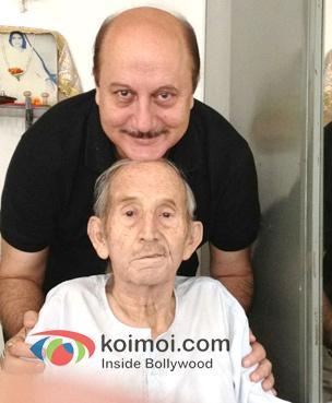 Anupam Kher And Dad