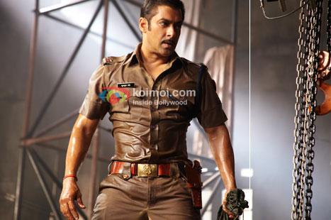 Salman Khan in a still from Dabangg