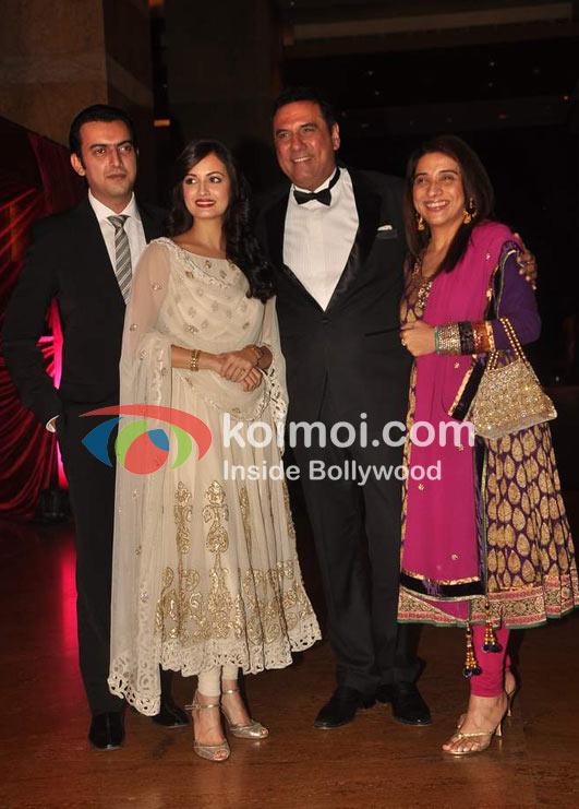Dia Mirza Boman Irani At Ritesh Genelia Wedding Reception Koimoi