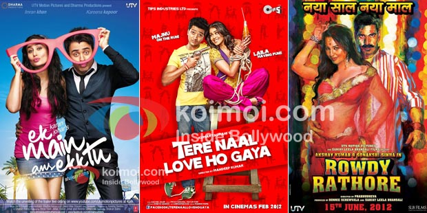 Ek Main Aur Ekk Tu, Tere Naal Love Ho Gaya & Rowdy Rathore Movie Posters