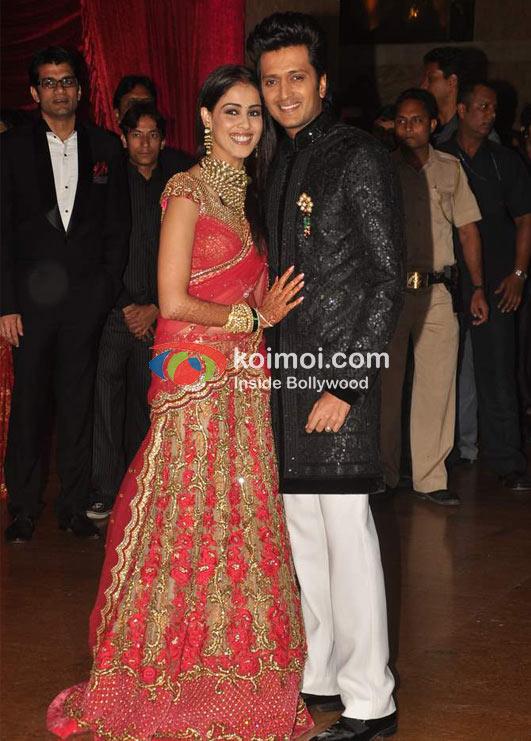 Genelia Dsouza Ritesh Deshmukh Wedding Reception Koimoi