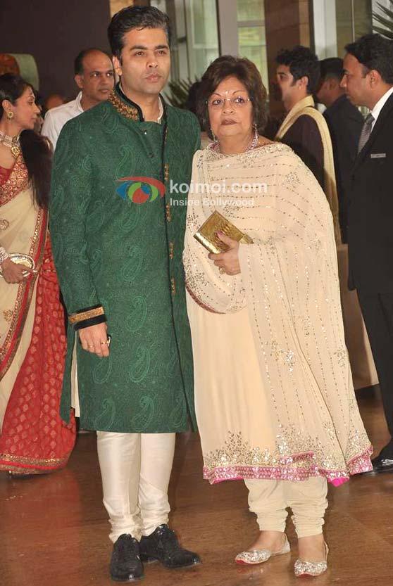 Karan Johar At Ritesh Genelia Wedding