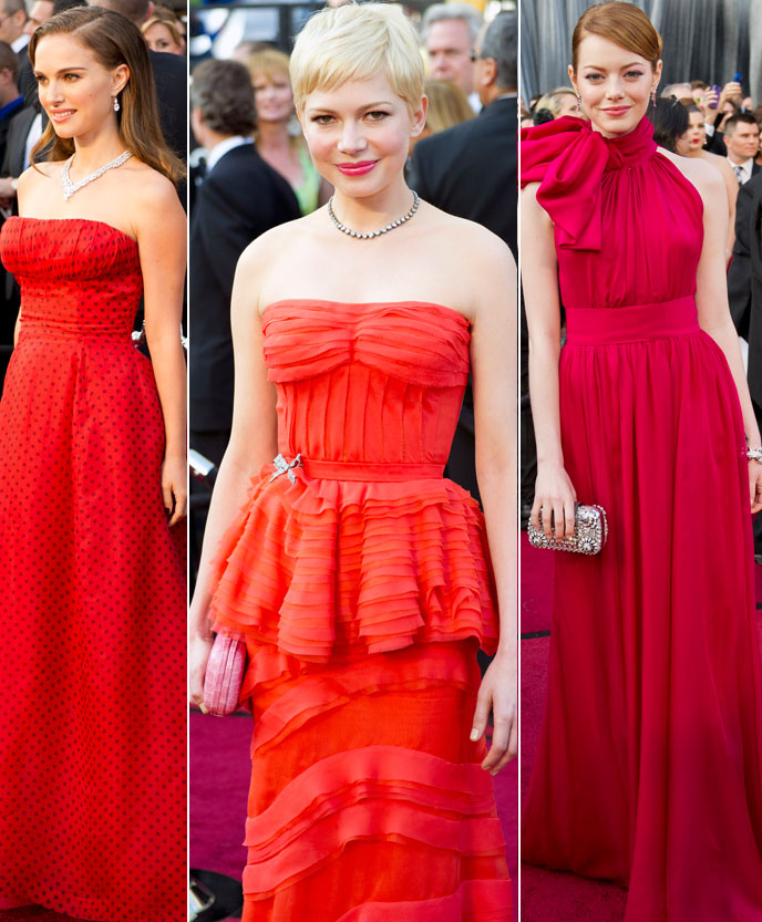 Natalie Portman, Michelle Williams, Emma Stone