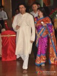 Raj Thackeray At Dheeraj-Deepshikha Wedding