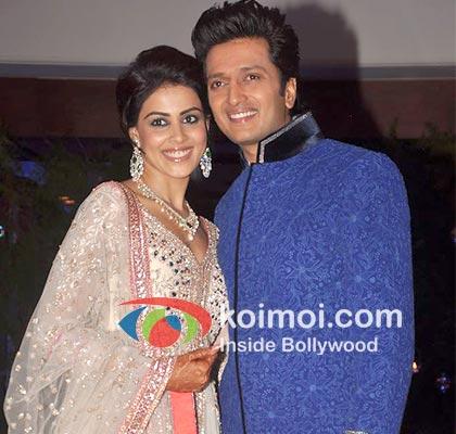 Genelia D' Souza with Ritesh Deshmukh