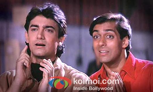 Salman Khan And Aamir Khan In Andaz Apna Apna