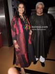 Shabana Azmi, Javed Akhtar At Ekk Deewana Tha Premiere