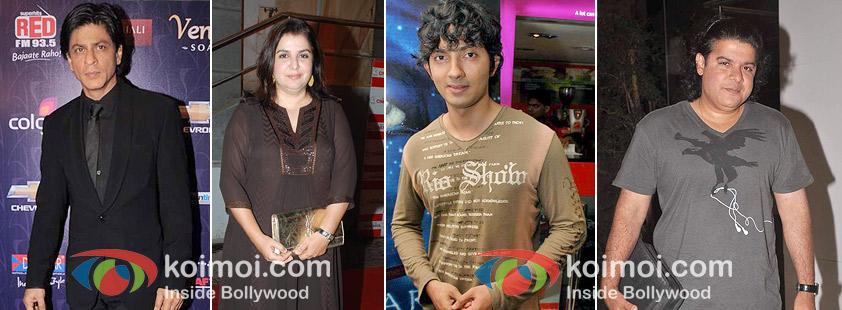 Shah Rukh Khan, Farah Khan, Shirish Kunder, Sajid Khan