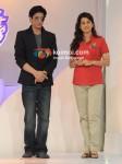 Shah Rukh Khan, Juhi Chawla Unveil New KKR Logo
