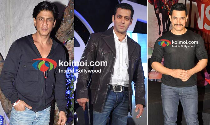 Shah Rukh Khan, Salman Khan, Aamir Khan
