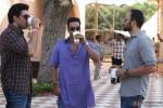 Abhishek Bachchan and Ajay Devgan have a word with Rohit Shetty on the sets of Bol Bachchan Movie Stills