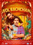 Ajay Devgan and Abhishek Bachchan in colorful Bol Bachchan Movie Poster