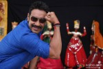 Ajay Devgan shows his muscles in Bol Bachchan Movie Stills