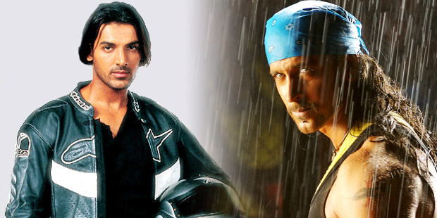 John Abraham in Dhoom & Hrithik Roshan in Dhoom 2