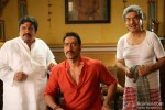 Neeraj Vora, Ajay Devgan and Asrani in Bol Bachchan Movie Stills