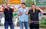 Rohit Shetty, Abhishek Bachchan, Ajay Devgan (Bol Bachchan Movie Stills)