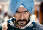 Ajay Devgan in an angry pose from in Son Of Sardar Movie Stills
