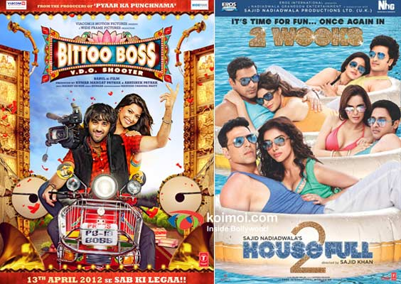 Bittoo Boss And Housefull 2 Movie Poster