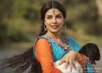 Priyanka Chopra wih a goat in Teri Meri Kahaani Movie Stills