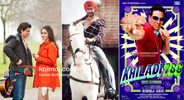 Shah Rukh Khan, Katrina Kaif in Yash Chopra Film, Ajay Devgan In Son Of Sardaar, Akshay Kumar Khiladi 786