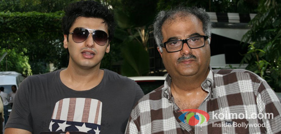 Arjun Kapoor with Boney Kapoor
