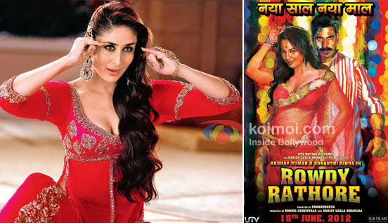 Kareena Kapoor In Agent Vinod and Rowdy Rathore Movie Poster