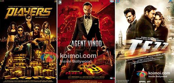 Players, Agent Vinod, Tezz Movie Posters