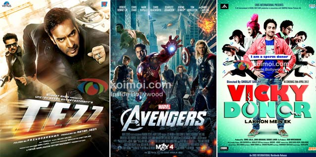 Tezz ,The Avengers, Vicky Donor Movie Poster