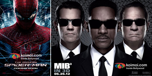 The Amazing Spider-Man and  Men in Black 3 Movie Poster