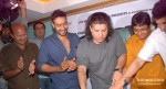 Ajay Devgn, Sajid Khan, Vashu Bhagnani at the song recording Himmatwala